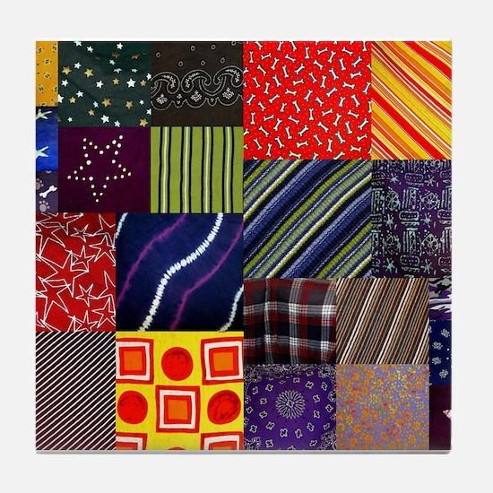 Quilt Squares Tile Coaster