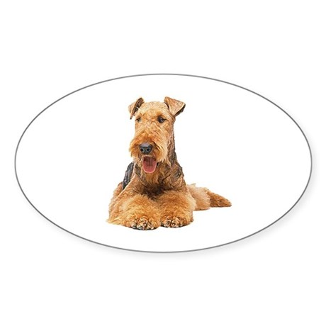 Airedale Terrier Oval Sticker