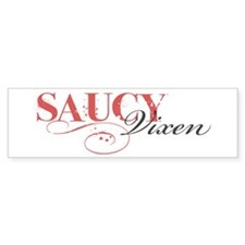 Saucy Vixen Bumper Bumper Sticker