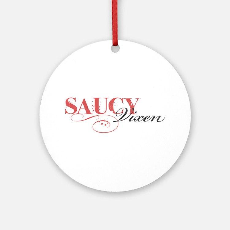 Saucy Vixen Ornament (Round)