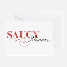 Saucy Vixen Greeting Card