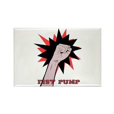 Funny Fist Pump Rectangle Magnet