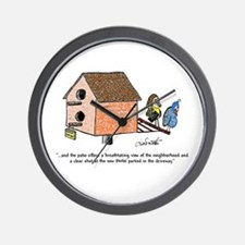 Flipping The Birdhouse Wall Clock