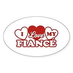 I Love My Fiance Oval Decal
