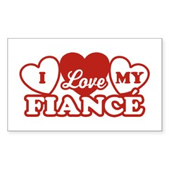 I Love My Fiance Rectangle Sticker 10 pk)