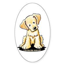 Lab Retriever Puppy Oval Sticker (50 pk)