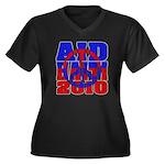 Aid Haiti Women's Plus Size V-Neck Dark T-Shirt