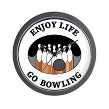 Enjoy Life Go Bowling Wall Clock