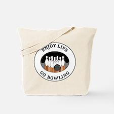 Enjoy Life Go Bowling Tote Bag