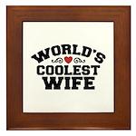 World's Coolest Wife Framed Tile