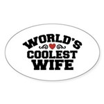 World's Coolest Wife Oval Sticker