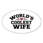 World's Coolest Wife Oval Sticker (10 pk)