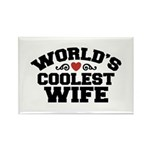 World's Coolest Wife Rectangle Magnet