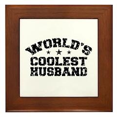 World's Coolest Husband Framed Tile