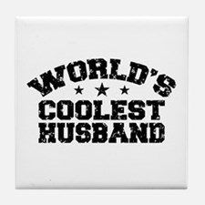 World's Coolest Husband Tile Coaster