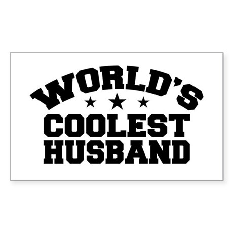 World's Coolest Husband Rectangle Sticker
