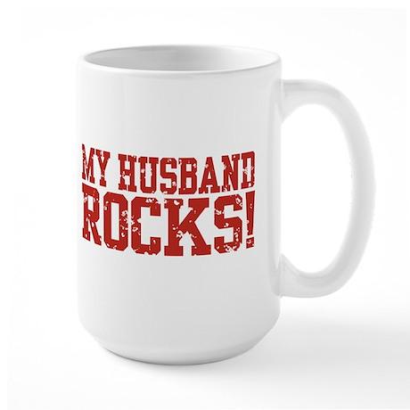 My Husband Rocks Large Mug
