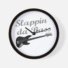 Slappin da Bass Wall Clock