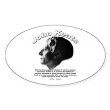 John Keats 07 Oval Decal
