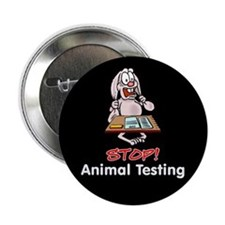 """Animal Testing 2.25"""" Button (10 pack)"""