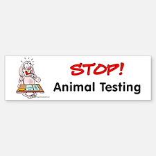 Animal Testing Bumper Bumper Bumper Sticker