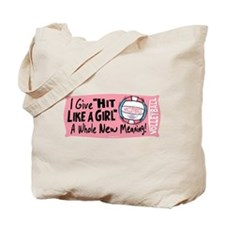 Hit Like Girl Vball Tote Bag