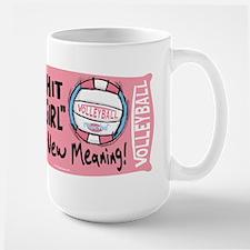 Hit Like Girl Vball Mug