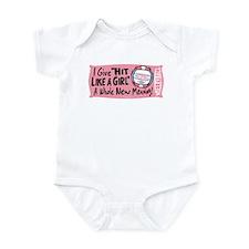 Hit Like Girl Vball Infant Bodysuit