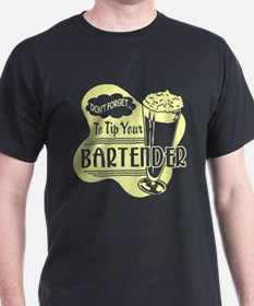 Tip Your Bartender Yellow T-Shirt