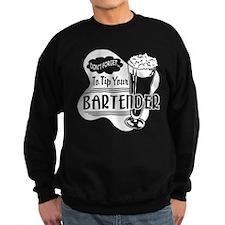 Tip Your Bartender White Sweatshirt