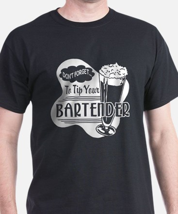 Tip Your Bartender White T-Shirt