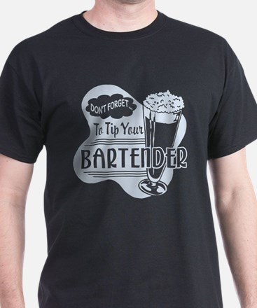 Tip Your Bartender Light Blue T-Shirt
