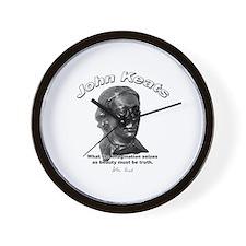 John Keats 12 Wall Clock