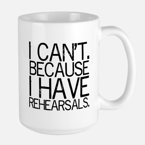 """""""I can't..."""" Large Mug"""
