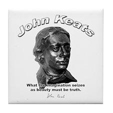 John Keats 12 Tile Coaster
