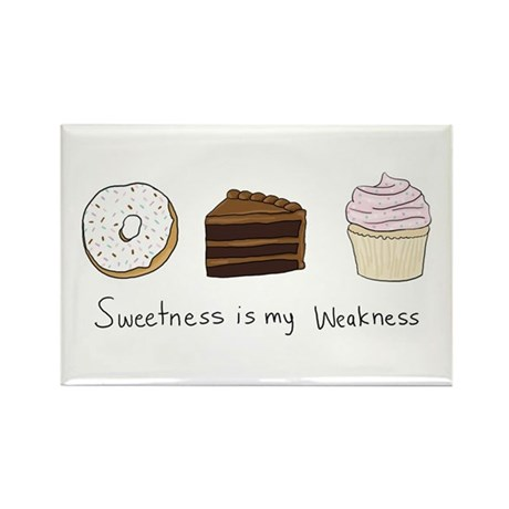 Sweetness is My Weakne Rectangle Magnet (100 pack)