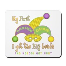 My First Mardi Gras Mousepad