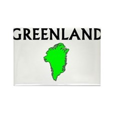 Cute Greenland travel Rectangle Magnet