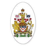Canada coat of arms Bumper Stickers