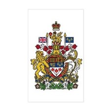 Canada Coat of Arms Rectangle Decal