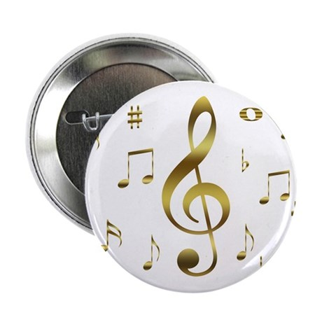 "Music Gold 2.25"" Button (100 pack)"