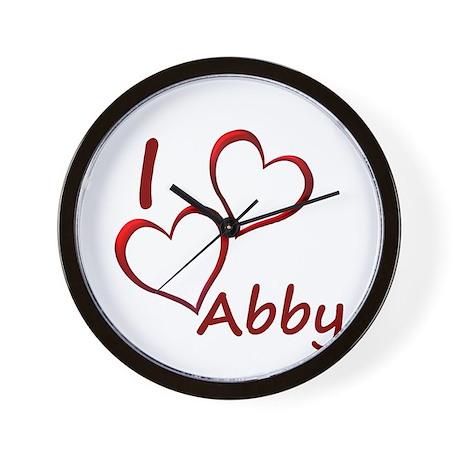 I love Abby Wall Clock