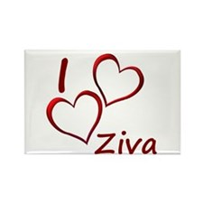 I love Ziva Rectangle Magnet