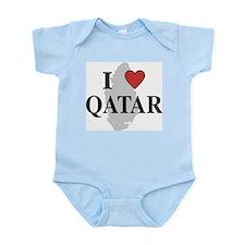 I Love Qatar Infant Creeper