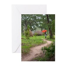Cute Tropical path Greeting Cards (Pk of 10)