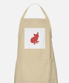 Red Word Silhouette (Sit) Apron