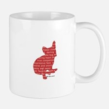 Red Word Silhouette (Sit) Mug