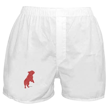 Red Word Silhouette (Beg) Boxer Shorts