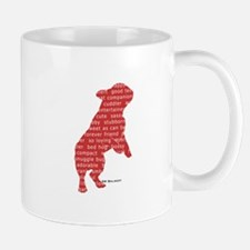 Red Word Silhouette (Beg) Mug