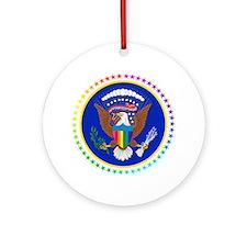 Cute Rainbow flag Ornament (Round)